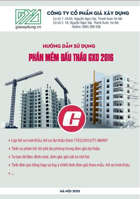 Phần mềm Đấu thầu GXD 2016