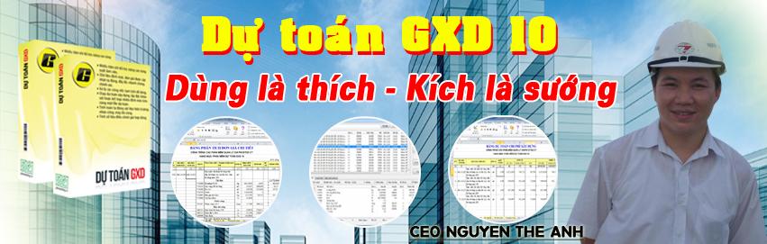 Những tính năng mới trên phần mềm Dự toán GXD 10