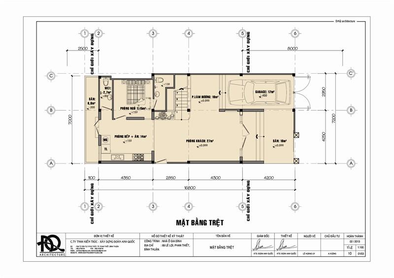Cách đọc bản vẽ xây dựng: Bản vẽ mặt bằng tầng trệt 1 ngôi nhà